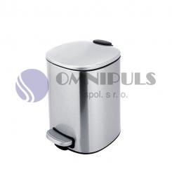 Nimco KOS 9005-10 odpadkový koš nerez mat, 5 litrů
