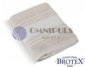 Brotex Froté osuška Mozaika 550g béžová 70 x 140 cm