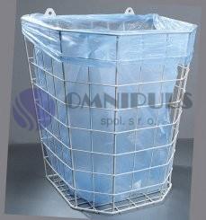 Merida B1A - Odpadkový koš drátěný bílý - závěsný 22 l