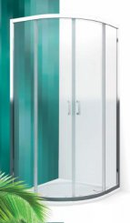 Roltechnik LLR2/900 Čtvrtkruhový sprchový kout s dvoudílnými posuvnými dveřmi