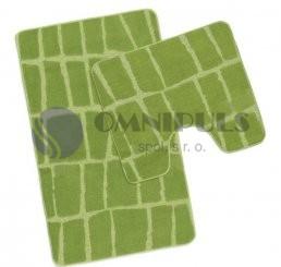 Bellatex koupelnové předložky Zelená kostka, 60 x 100, 60 x 50 cm