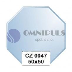 Ellux Zrcadlo osmiúhelník s fazetou FBS CZ - 0047 (rozměr 50*50cm)