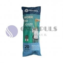 Merida WTB301 - TOP sáčky 18-28 l., bílé,zatahovací,parfémované, 20 ks/role