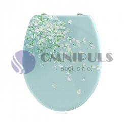 Eisl Sanitär Flower in The Wind 82381, Wc sedátko, duroplast, soft close
