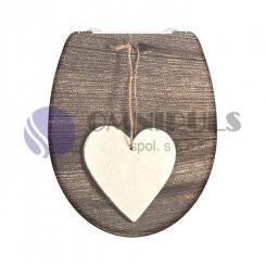 Eisl Sanitär WOOD HEART 82377, Wc sedátko, duroplast, soft close