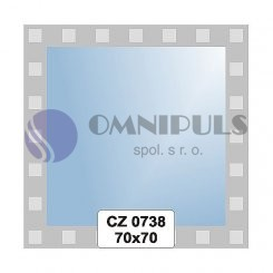 Ellux Ornamentální zrcadlo čtvercové FBS CZ - 0738 (rozměr 70*70cm)