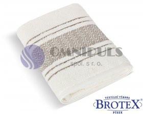 Brotex Froté ručník Mozaika 550g krémová 50 x 100 cm