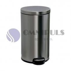 Merida KIM416 - Odpadkový koš s pedálem SILENT, kovový, matový, 30 l
