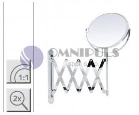 Ridder 03006200 JANNIN zvětšovací kosmetické zrcátko 2× - nástěnné chrom