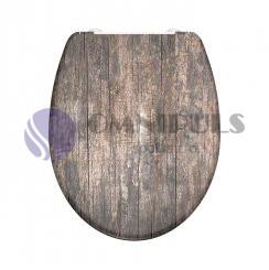 Eisl Sanitär ED69WHeart, OLD WOOD, Wc sedátko, duroplast, soft close (82368)