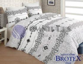 Brotex Povlečení bavlna Melisa grey zipový uzávěr 140x200 70x90