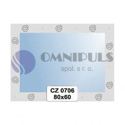 Ellux Ornamentální zrcadlo obdélníkové FBS CZ - 0706 (rozměr 80*60cm)