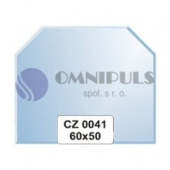 Ellux Zrcadlo šestiúhelník s fazetou FBS CZ - 0041 (rozměr 60*50cm)