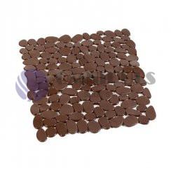 Protiskluzová podložka do sprchy hnědá, 54x54cm, PP-54003
