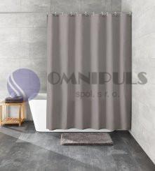 Kleine Wolke KITO šedý, Sprchový závěs 120x200cm, textil, bez kroužků