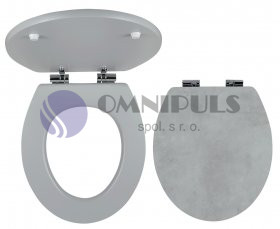 NOVASERVIS NOVA-WC/STONE1 WC sedátko, MDF s potiskem, panty kov-chrom