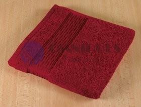 Brotex Froté ručník 50x100cm proužek 450g vínová