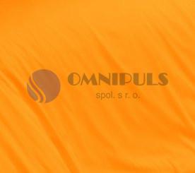 Brotex Oranžové satén prostěradlo plachta bez gumy 140x230