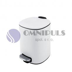 Nimco KOS 9005-05 odpadkový koš bílá mat, 5 litrů