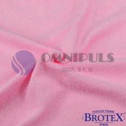 Brotex Froté prostěradlo na jednolůžko 90*200cm, růžové (010)