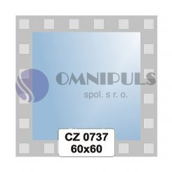 Ellux Ornamentální zrcadlo čtvercové FBS CZ - 0737 (rozměr 60*60cm)