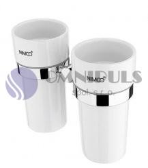 Nimco Unix UN 13058DKN-26 dvojitý držák pohárků, keramika