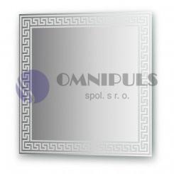 Ellux Ornamentální zrcadlo FBS Artistica CZ - 0702, meandr, 60 x 60cm