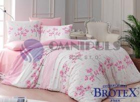 Brotex povlečení bavlna Viola pink zipový uzávěr 140x200 70x90