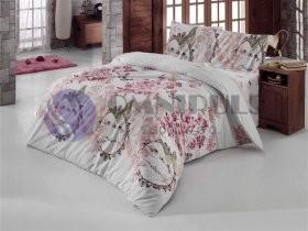 Brotex povlečení bavlna Romantika bílá 140x200 70x90, zipový uzávěr