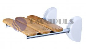 Ridder A140108 Sedačka do sprchy sklopná, nosnost 130 KG - bambus 36 × 25,4 cm