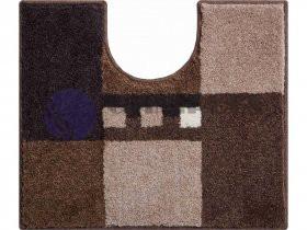 GRUND MERKUR hnědá 50x60 cm, s výřezem pro WC, koupelnová předložka, doprodej