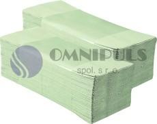 Merida PZ10 - Jednotlivé papírové ručníky zelenkavé 5000ks skládané