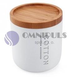Nimco Kora KO 24051-05, dóza na kosmetické tampony bílá