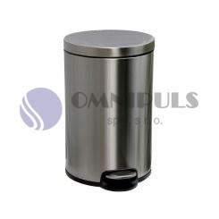 Merida KIM415 - Odpadkový koš s pedálem SILENT, kovový, matový, 20 l