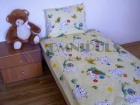 Brotex Povlečení dětské Dalmatin žlutý bavlna 90x135 45x60 cm