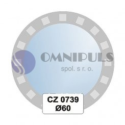 Ellux Ornamentální zrcadlo kulaté FBS CZ - 0739 (průměr 60cm)