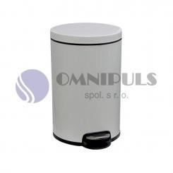 Merida KIB415 - Odpadkový koš s pedálem SILENT, kovový, bílý, 20 l