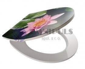 RIDDER LILY 02202100 LILY WC sedátko, soft close, duroplast - květ 45 × 37,4 cm