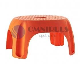 Stolička Ridder Premium do koupelny, oranžová, A1102614, 22 x 33 x 24 cm