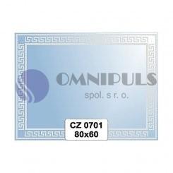 Ellux Ornamentální zrcadlo obdélníkové FBS CZ - 0701 (rozměr 80*60cm)