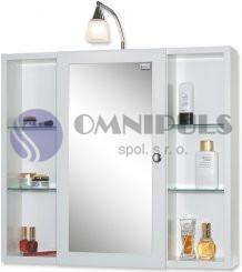 JOKEY LATINA Zrcadlová skříňka - bílá š. 72 cm, v. 78 cm, hl. 17 cm, 211111020-0110