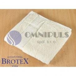 Brotex Froté ručník 50x100cm proužek 450g světle béžová