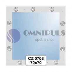 Ellux Ornamentální zrcadlo čtvercové FBS CZ - 0708 (rozměr 70*70cm)