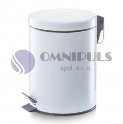 Zeller 18700 odpadkový koš 5litrů - bílý, doprodej