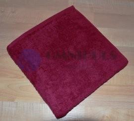 Brotex Froté ručník 50x100cm bez proužku 450g vínový
