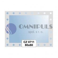 Ellux Ornamentální zrcadlo obdélníkové FBS CZ - 0711 (rozměr 80*60cm)