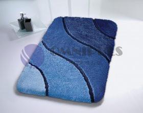Kleine Wolke WAVE Marineblau 70x120 cm, koupelnová předložka