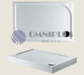 Riho Kolping 120x80x3cm - DB33 z litého mramoru sprchová vanička