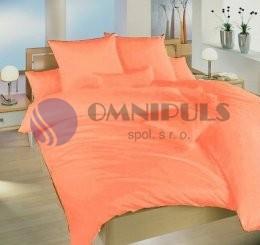 Brotex Povlečení krep UNI Oranžové HOTELOVÝ uzávěr 140x200 70x90