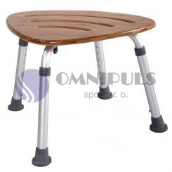 Ridder Premium stolička s nastavitelnou výškou, sedák bambus, nosnost 150 KG, A00502081, v. 37,5 - 4